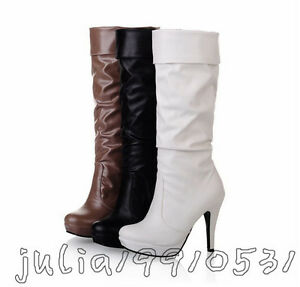 NEW Women's Girl Fashion Knee High Shoes High Heel Platform Boots US All Sz N047