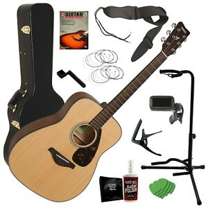 yamaha fg800 acoustic guitar natural complete guitar bundle