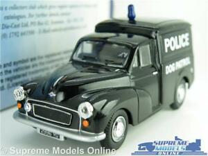 MORRIS MINOR MODEL VAN POLICE DOG PATROL 1:43 SCALE OXFORD MM036 K8