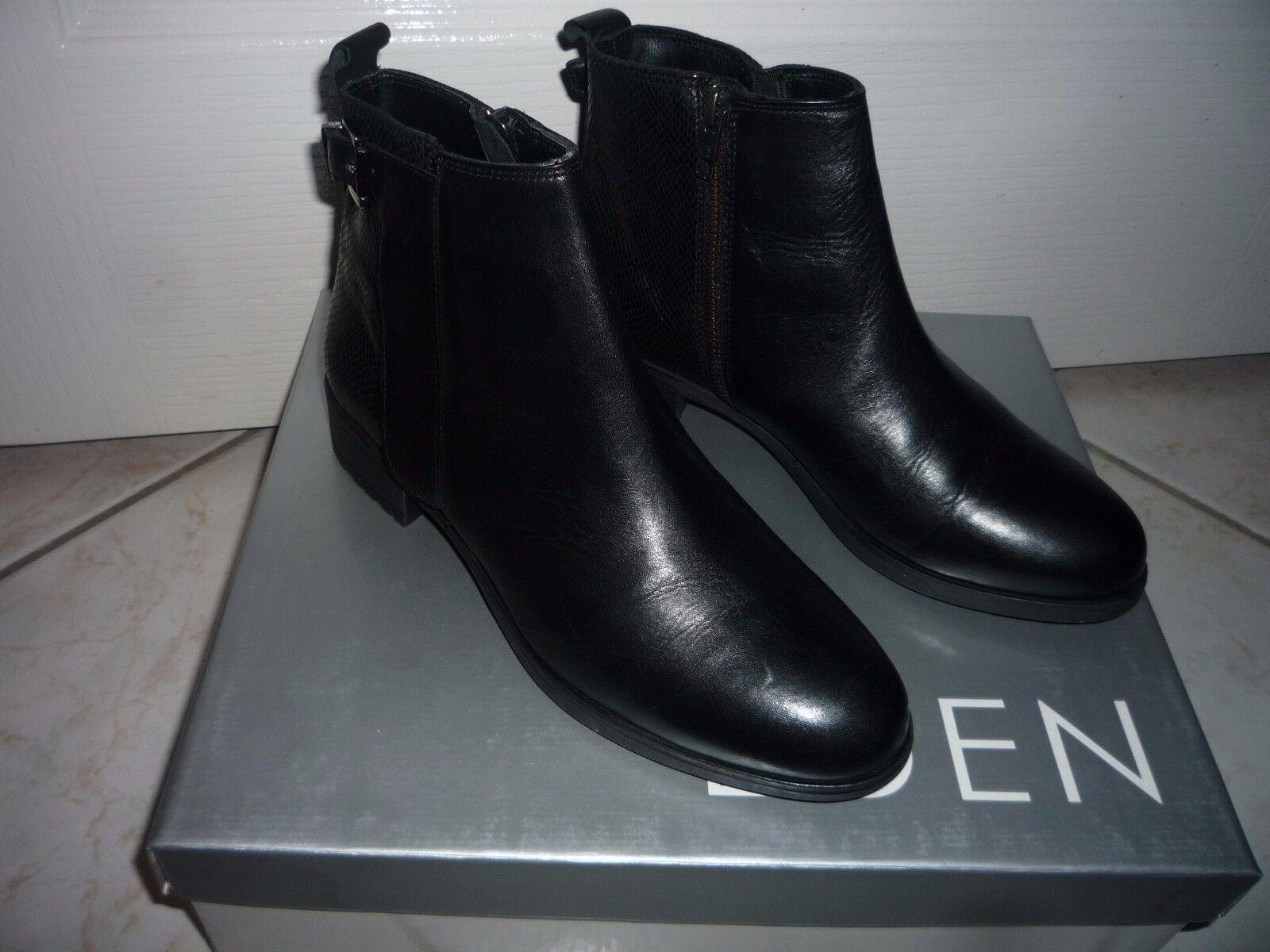 BOTTINES NOIRES CUIR  EDEN chaussures   T 38 NEUF