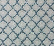 BALLARD DESIGN QUINN AQUA BLUE KRAVET KASHMIRA AQUAMIST TRELLIS FABRIC BY YARD
