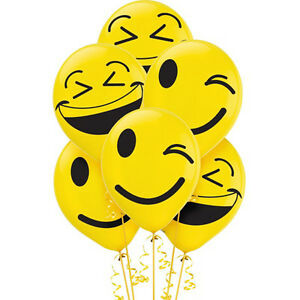 Image Is Loading EMOJI LOL LATEX BALLOONS 6 Birthday Party Supplies