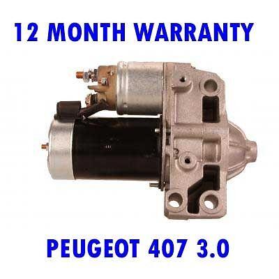 Peugeot 407 3.0 2004 2005 2006 2007 - 2015 Riprodotto Motorino di Avviamento