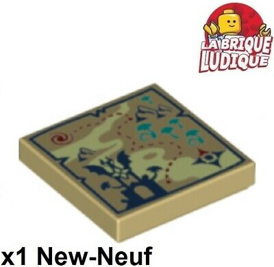 Lego 1x Tile decorated 2x2 carte Map Topographical compass 3068bpb1011 NEUF