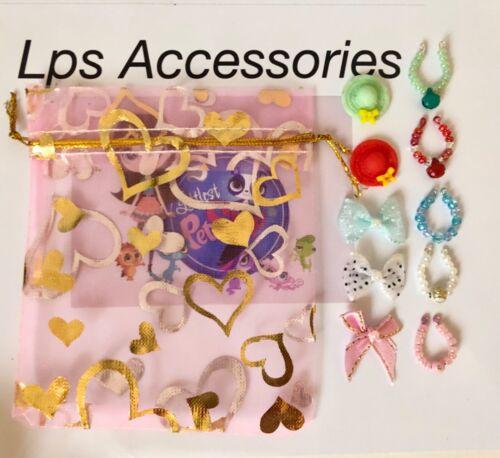 LPS chien comprend pas 5 Cols 2 chapeaux 3 arcs /& Sac Cadeau 11 Accessoires pour LPS