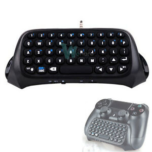 wireless bluetooth mini keyboard for sony ps4 playstation dualshock 4 controller ebay. Black Bedroom Furniture Sets. Home Design Ideas