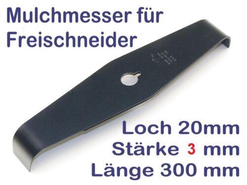 Freischneider Mulchmesser Dickichtmesser 2-Zahn 300 3mm für Motorsensen 20