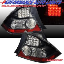 Set Of Pair Black Led Taillights For 2004 2005 Honda Civic 2dr Coupe Fits 2004 Honda Civic