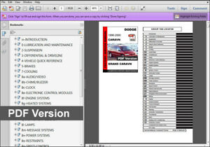 1997 dodge grand caravan service manual