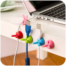 4PCS Headphone Headset Wire Wrap Cord Winder Organizer Cable Collector Silica