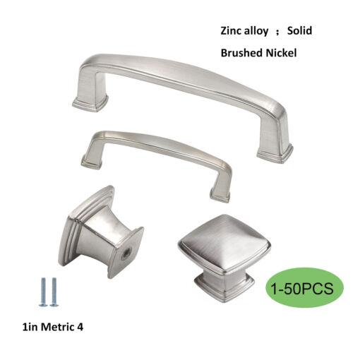 Brushed Nickel Cabinet Pulls Knobs Kitchen Cabinet Handles Solid Drawer Pulls