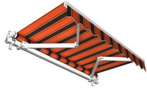 Balkonmarkise Gelenkarmmarkise Sonnenschutz Markise orange schwarz 250 x 150 cm