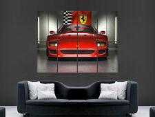 FERRARI ITALIA BLACK Super Sport Car Large Wall Art Canvas Picture A187  MATAGA
