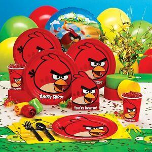 ANGRY-BIRDS-Fete-D-039-anniversaire-Fournitures-Vaisselle-Assiettes-Serviette-Ballons-Decorations