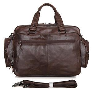 Men-039-s-Real-Brown-Leather-Briefcase-15-5-034-Laptop-Case-Shoulder-Bag-Tote-Business