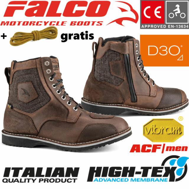 Falco Lennox Motorradschuhe Schwarz 43