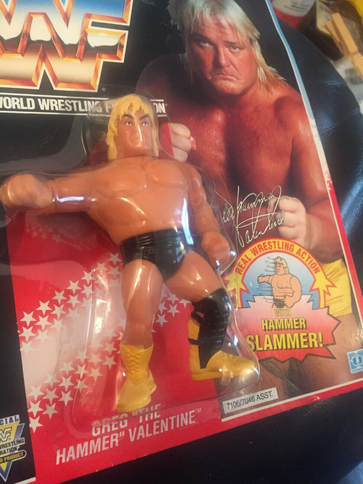 WWF HASBRO GREG THE HAMMER VALENTINE MOC SERIES 3 Brand New