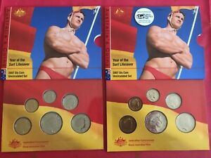2007-6-Coin-Uncirculated-Year-Of-The-Lifesaver-Set-amp-RARE-Berlin-Money-Fair-Ser