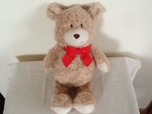 TESCO-YOU-ARE-LOVED-BEIGE-TEDDY-BEAR-RED-BOW-BABY-COMFORTER-SOFT-HUG-TOY