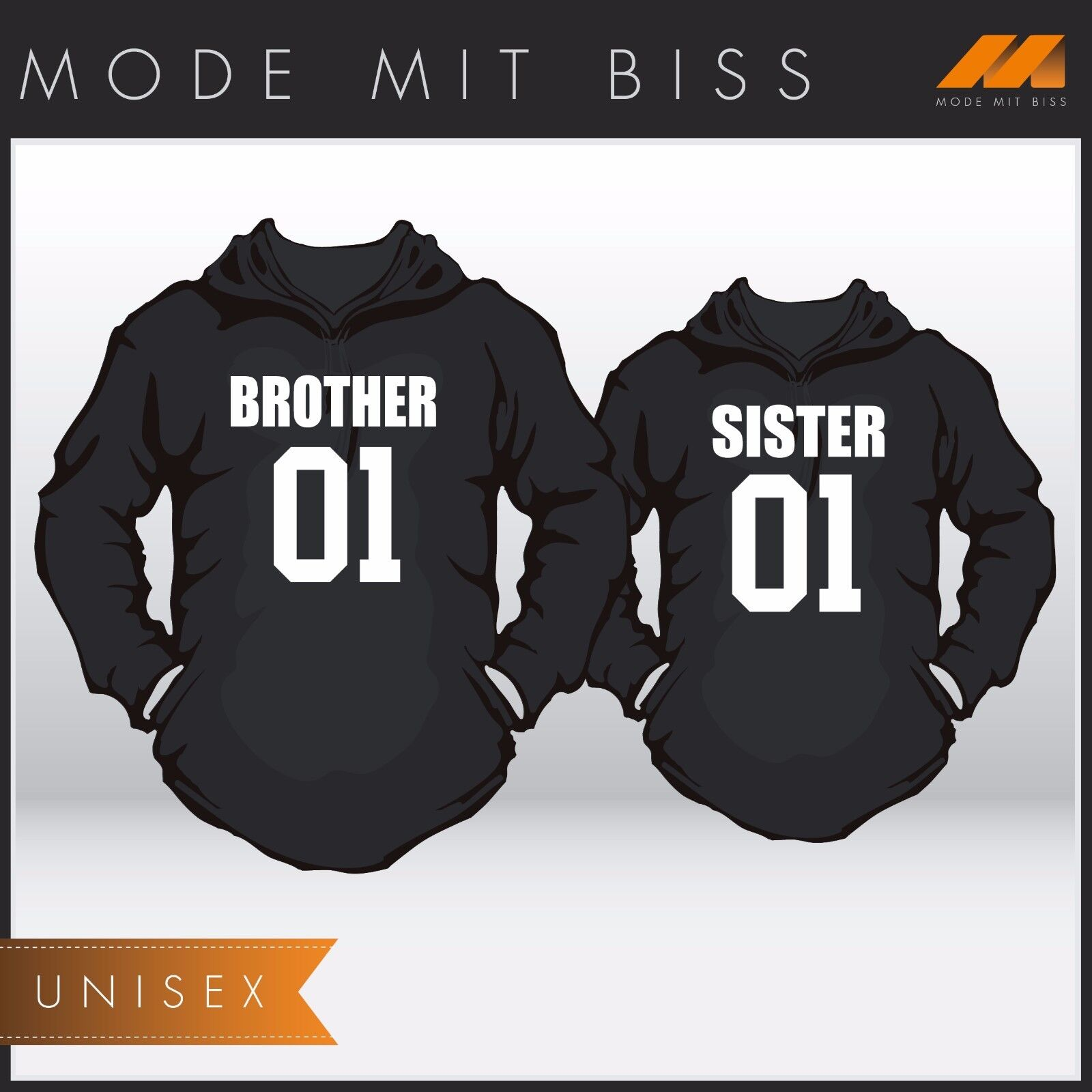 Hoody Set mit WUNSCHNUMMER  Brother & Sister