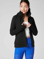 ATHLETA Triumph Long Hoodie M MEDIUM Black CYA Length Jacket