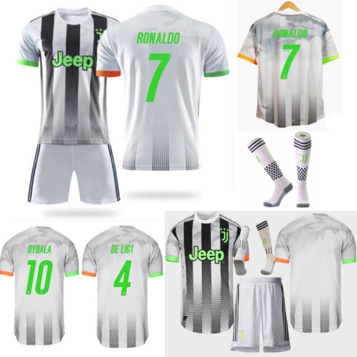 Kinder Fußball Kit Trikot Set Kurzarm Jungen Sport Jersey Kit+Socken  3-14Y