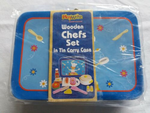 Playwrite Wooden Chefs Set in Tin Carry Case