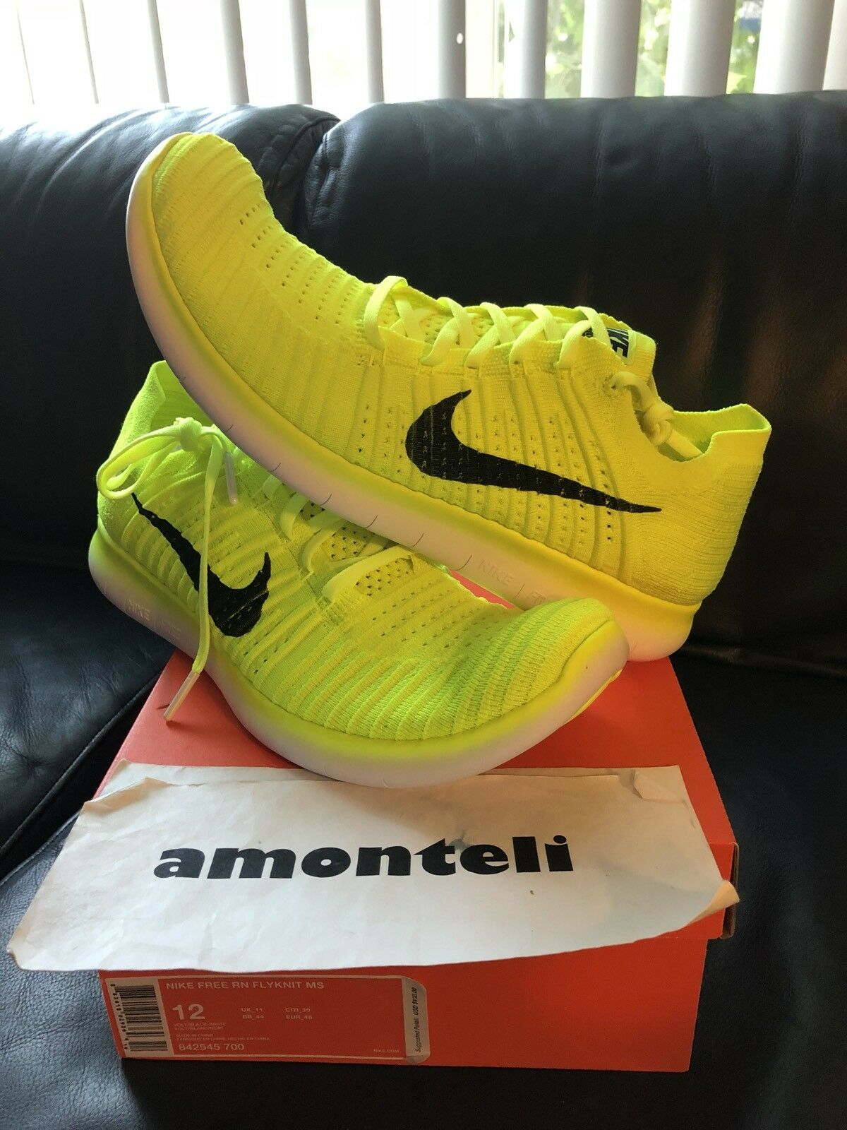 BRAND NEW NIKE FREE RN FLYKNIT MS MEDAL STAND VOLT 2016 RIO OLYMPICS - SIZE 12