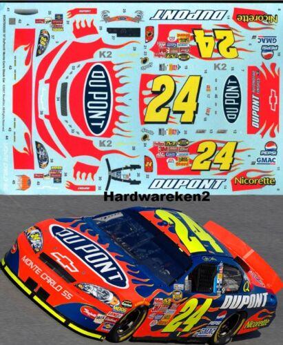 NASCAR DECAL #24 DuPONT FLAMES 2007 MONTE CARLO JEFF GORDON 1//24