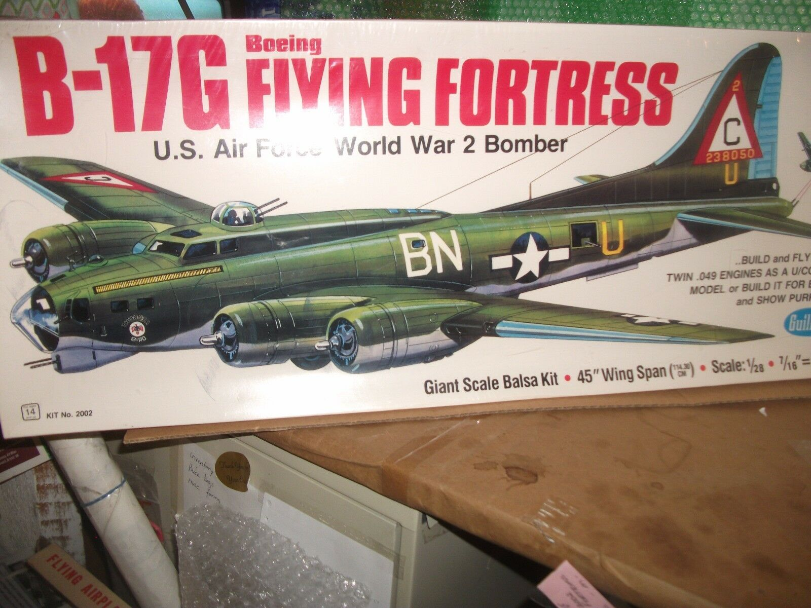 B -17G Boeing flygagaing Fortress modellllerlerl Kit av Guillågs