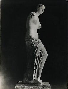 PHOTO-VINTAGE-VENUS-DE-MILO-LOUVRE-STATUE-SCULPTURE-tirage-argentique-1940