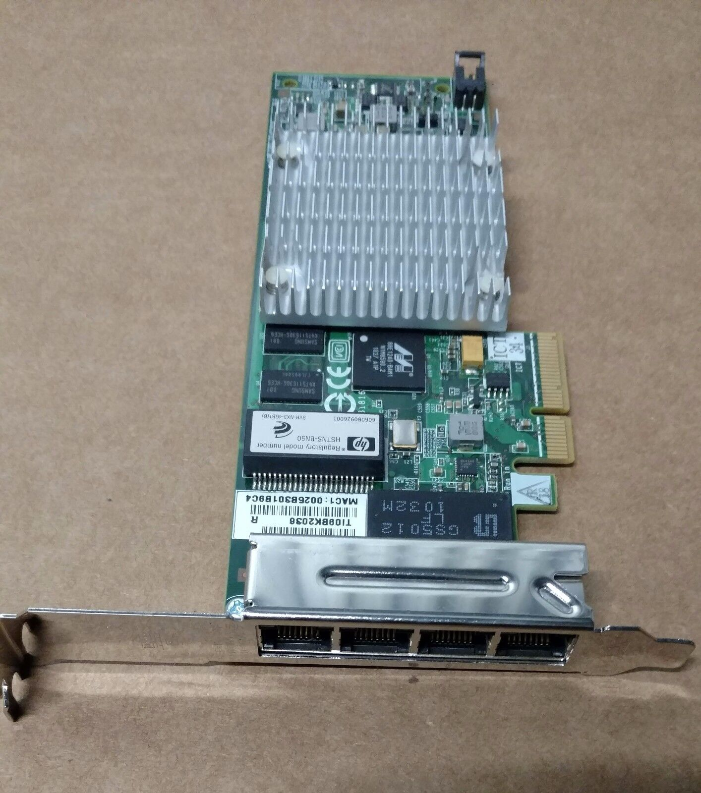 539931-001 491176-001: HP NC375T 4-port Gigabit Ethernet adapter