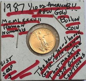 1987-5-Dollar-BU-American-gold-Eagle-1-10-oz-999-AGW-COIN-SELING-BELOW-LIST-A