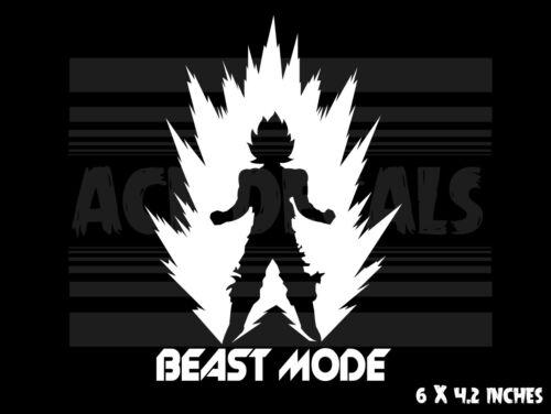 Vinyl decal sticker Goku Anime Beast Mode Dragon Ball Z