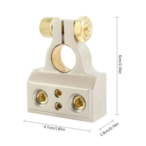 Clamps Brass Zinc Alloy /& Shims +//- 0//4//8//10 Gauge Car Battery Terminals
