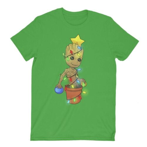 Guardians of the Galaxy Baby Groot Christmas Tree Cute Funny Adult Kids T-Shirt