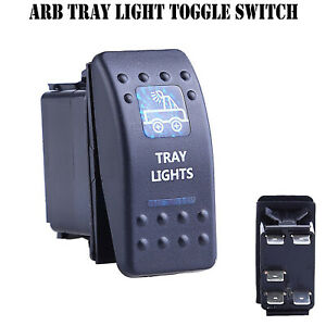 12V-20A-Bar-ARB-Carling-Rocker-Toggle-Switch-Blue-LED-Car-Boat-Tray-Light