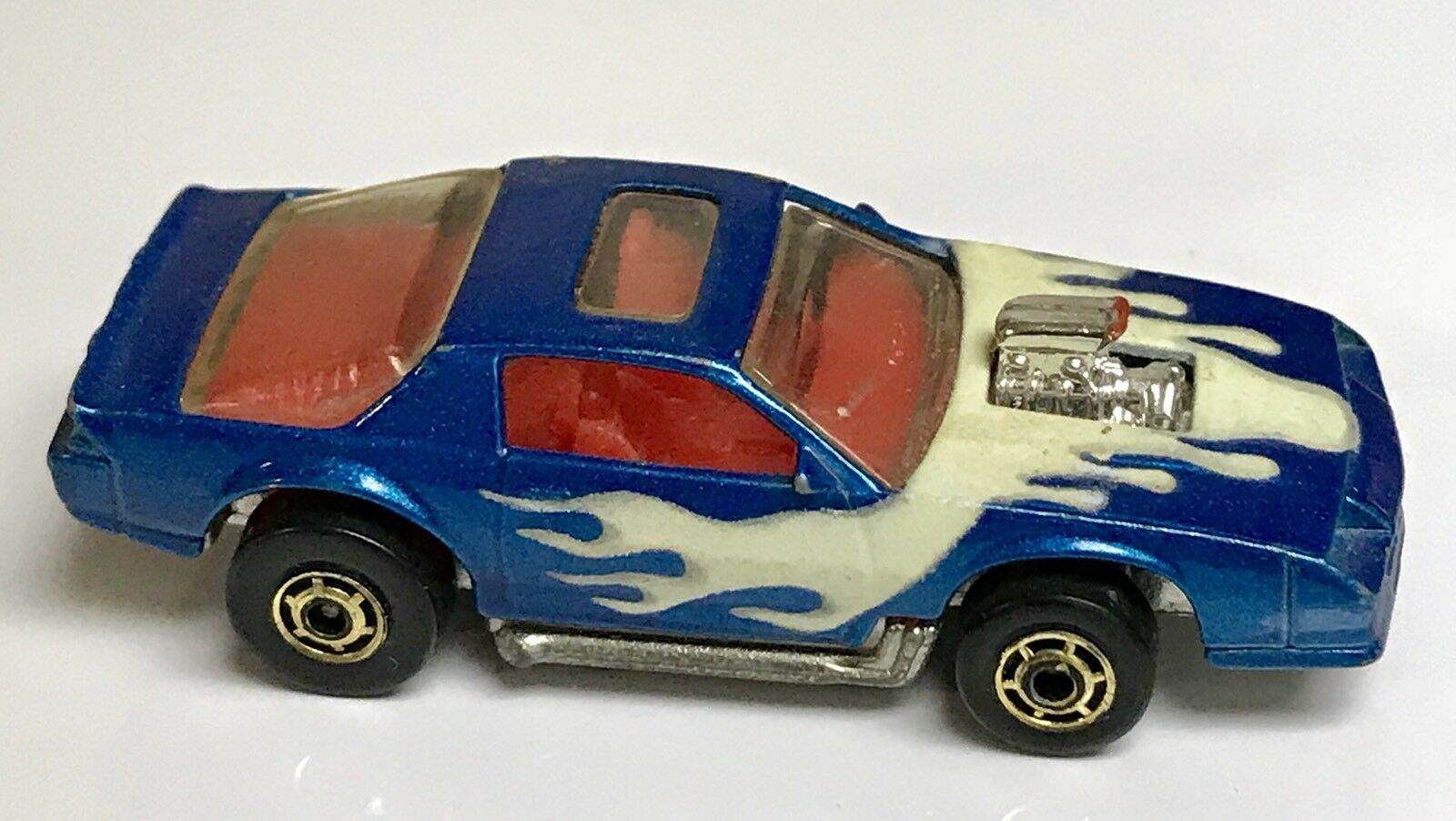 1986 HOT WHEELS TURBOTRAX Turbo Glo Jump Race Set Nº 3243 Mattel BLOWN CAMARO