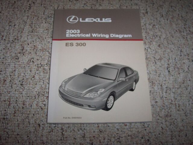 2003 Lexus Es300 Es 300 Factory Original Electrical Wiring Diagram Manual Book