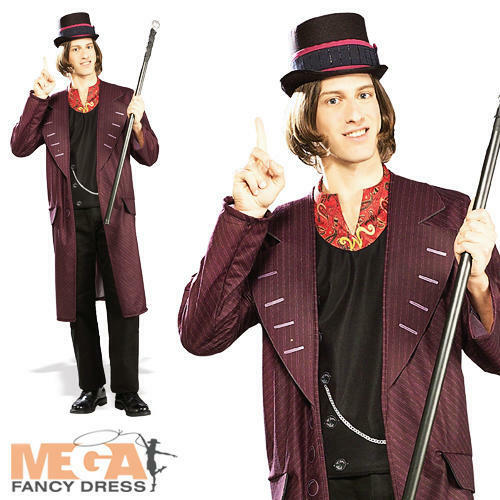Willy Wonka Hat Mens Fancy Dress Book Week Character Adults Costume Outfit New