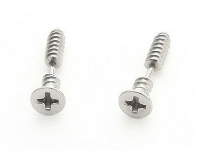 PAIR Titanium steel Hipsters Screws Stud Earring Free Shipping XM0247E