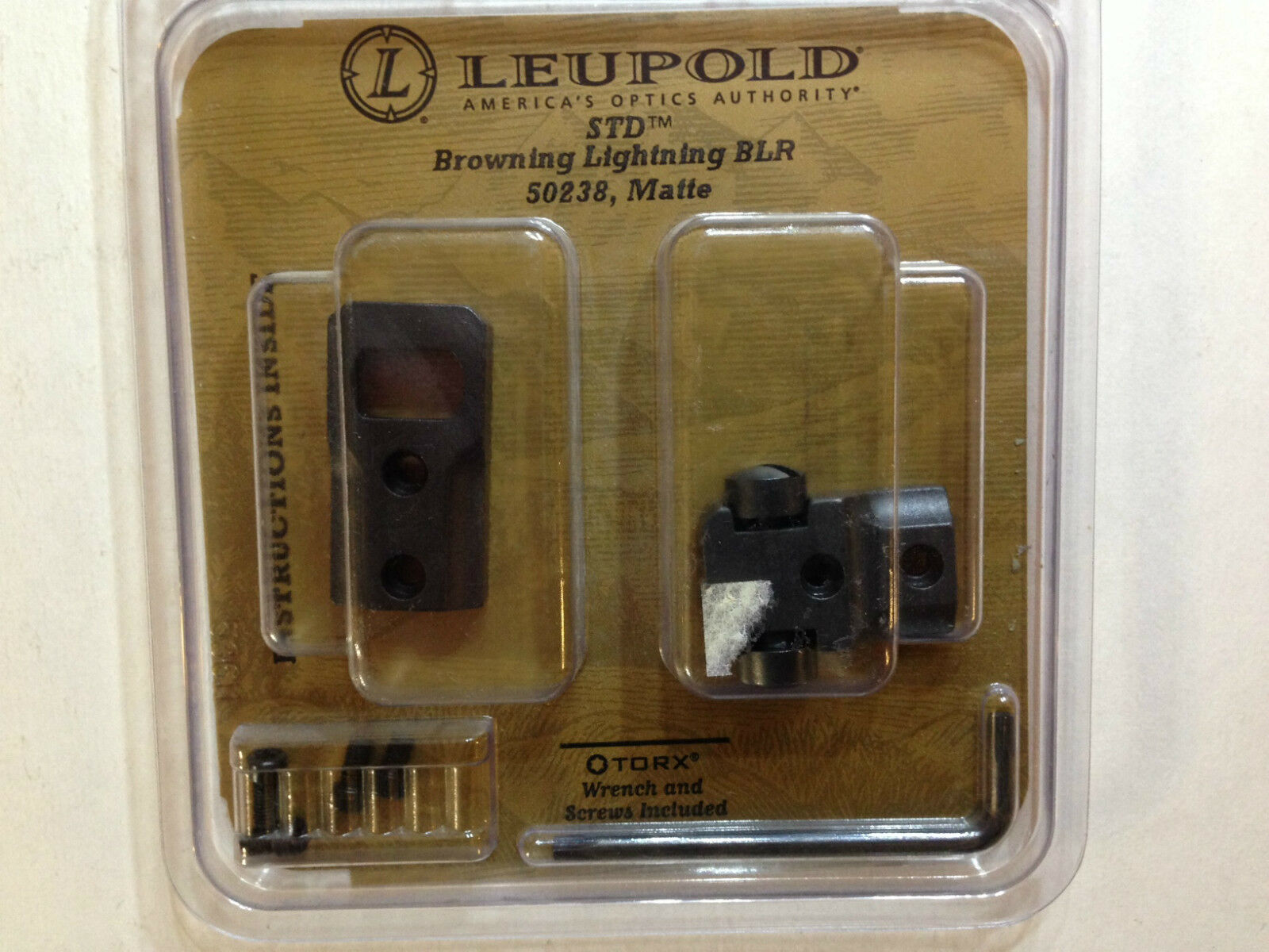 50238 Leupold 2-Piece STD Base For Browning BLR Lightning Short Action Matte