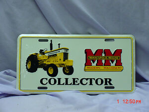 Minneapolis Moline  License Plate, NEW