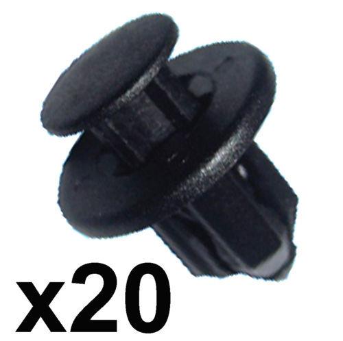 20x Paraurti Davanzale & Trim Clips - 12MM FORO-si adatta alcuni Honda, Nissan, MAZDA