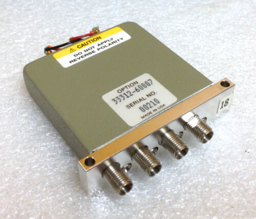 HP 33312-60007 DC to 26.5 GHz 4 Port SMA Coaxial Switch
