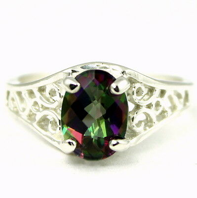SR362 Paraiba Topaz 925 Sterling Silver Ladies Ring