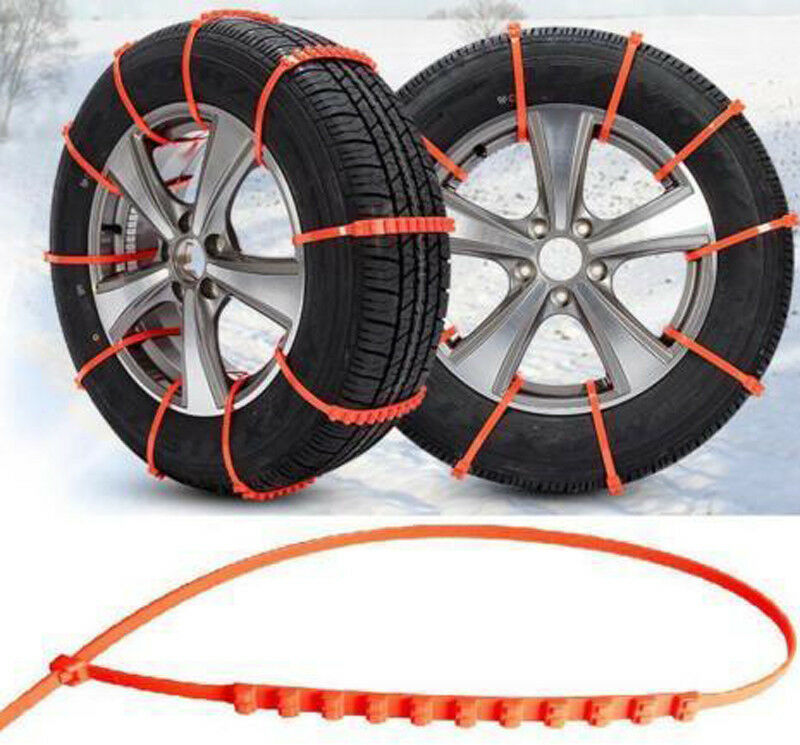Dasing 10 Pcs Anti-Skid Car Cable Tire Emergency Traction Mud Snow Chains for SUV Car Driving