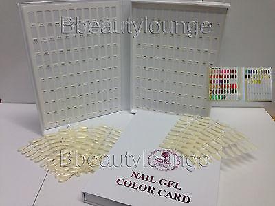 212 Tip White Nail Colour Chart Display Book Fop UV/LED Gel Polish BUY 2 = GIFT!