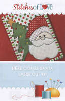 Here Comes Santa Mug Rug Laser Cut Applique Kit, From Stitches Of Love Quilting