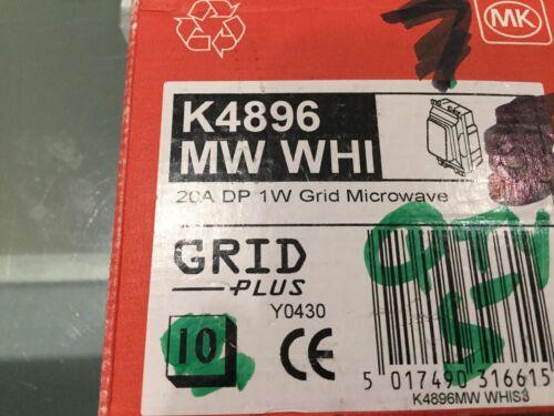 20 A DP MODULE 1WAY gravé micro-ondes MK Grille plus K4896MW B